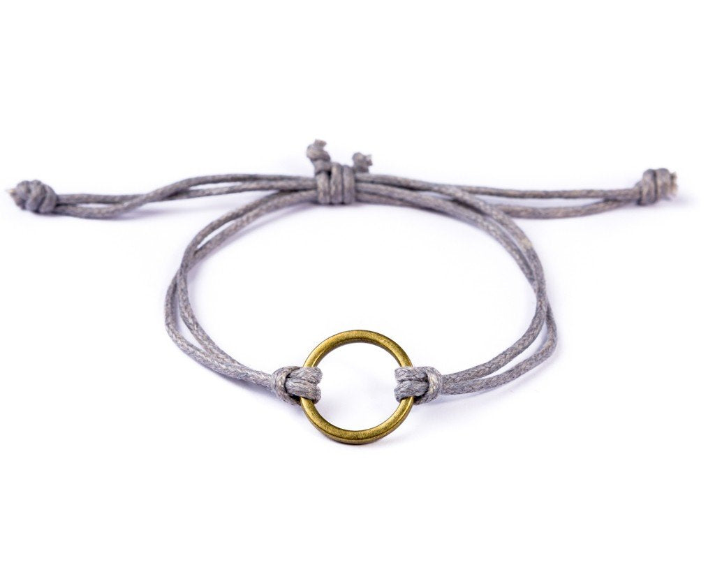 String Ring Bracelet - purple