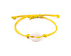 String Seashell Bracelet - yellow - boom-ibiza