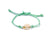 String Seashell Bracelet - green