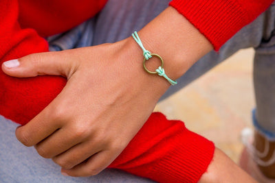String Ring Bracelet - green - boom-ibiza