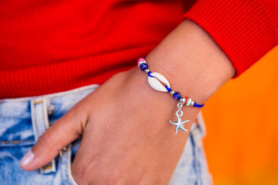 String Seashell Bracelet - Blue Sea-Star - boom-ibiza