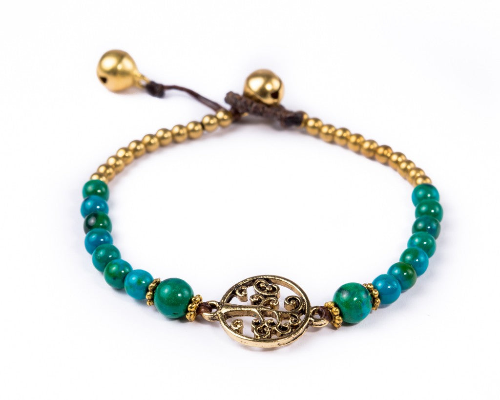 Tree of life bracelet - Deep water