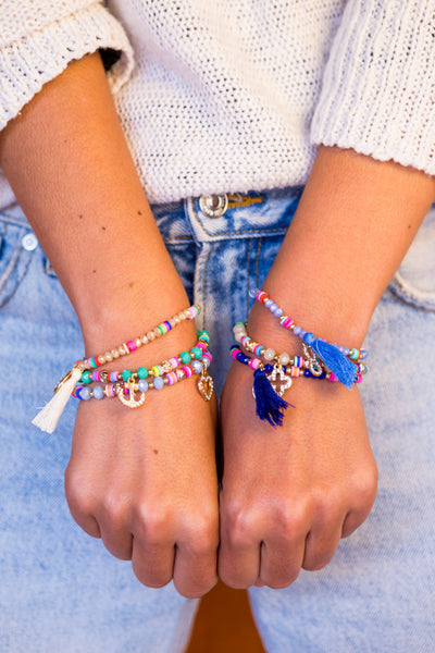 Stretch Friendship Bracelet - Tassel - boom-ibiza