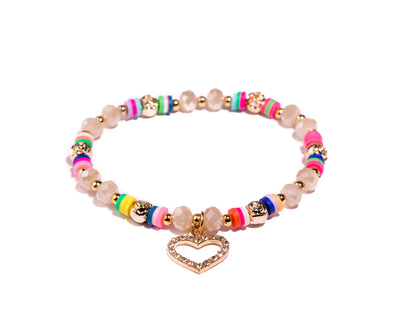 Stretch Friendship Bracelet - Heart - boom-ibiza