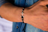 String Bracelet Metal Anchor - Black - boom-ibiza