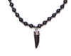 beads necklace black tooth pendant - boom-ibiza