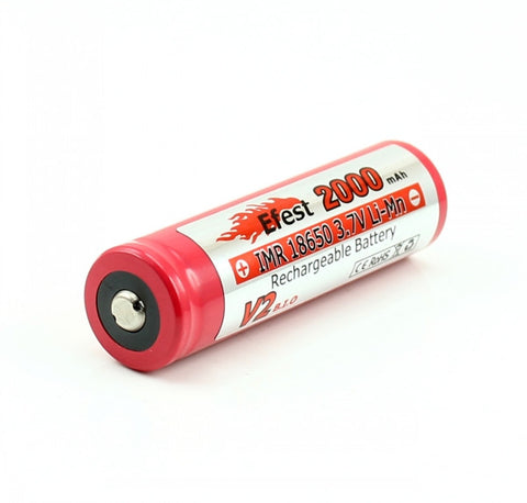 Efest 18650 2000mah IMR Button Top