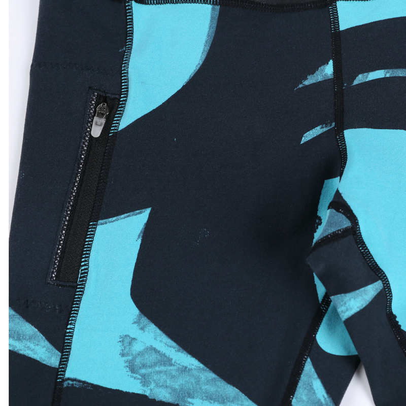 Direct-To-Consumer Yoga Pants: Abstract Art Blue