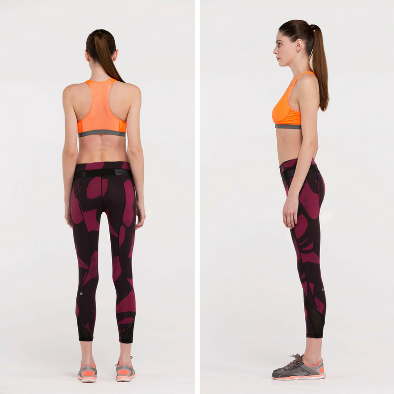 Direct-To-Consumer Yoga Pants: Abstract Art Wine