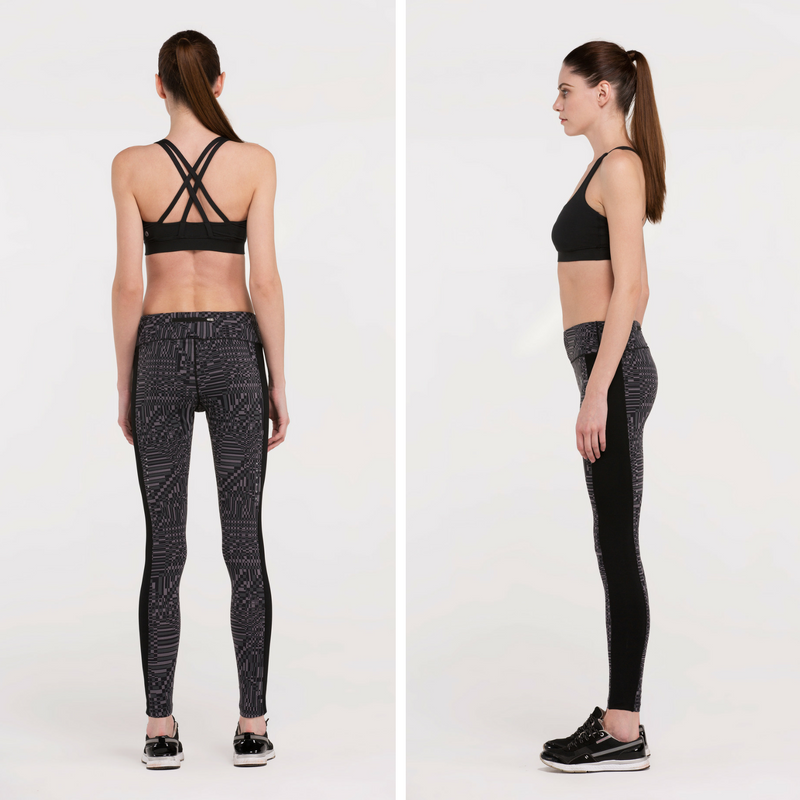 Direct-To-Consumer Yoga Pants: Abstract Art Grey