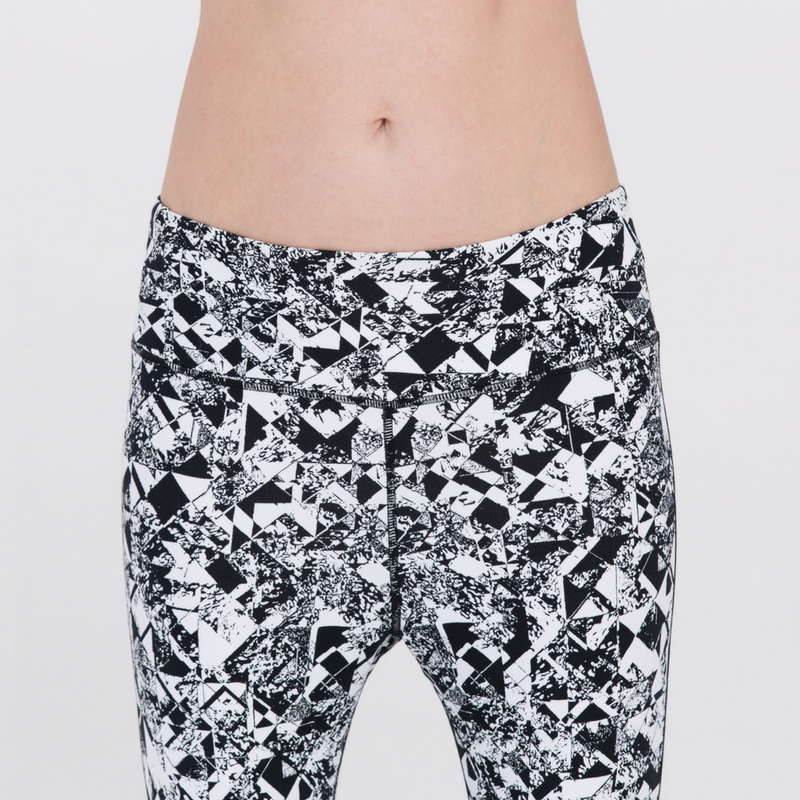 Direct-To-Consumer Yoga Pants: Abstract Art B&W