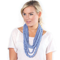 Periwinkle Flat Braided Layered