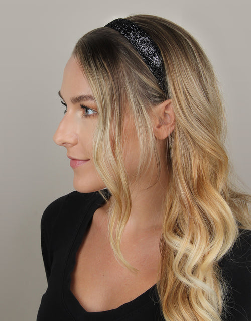 "Black Sparkle - Original 1"" Headband"