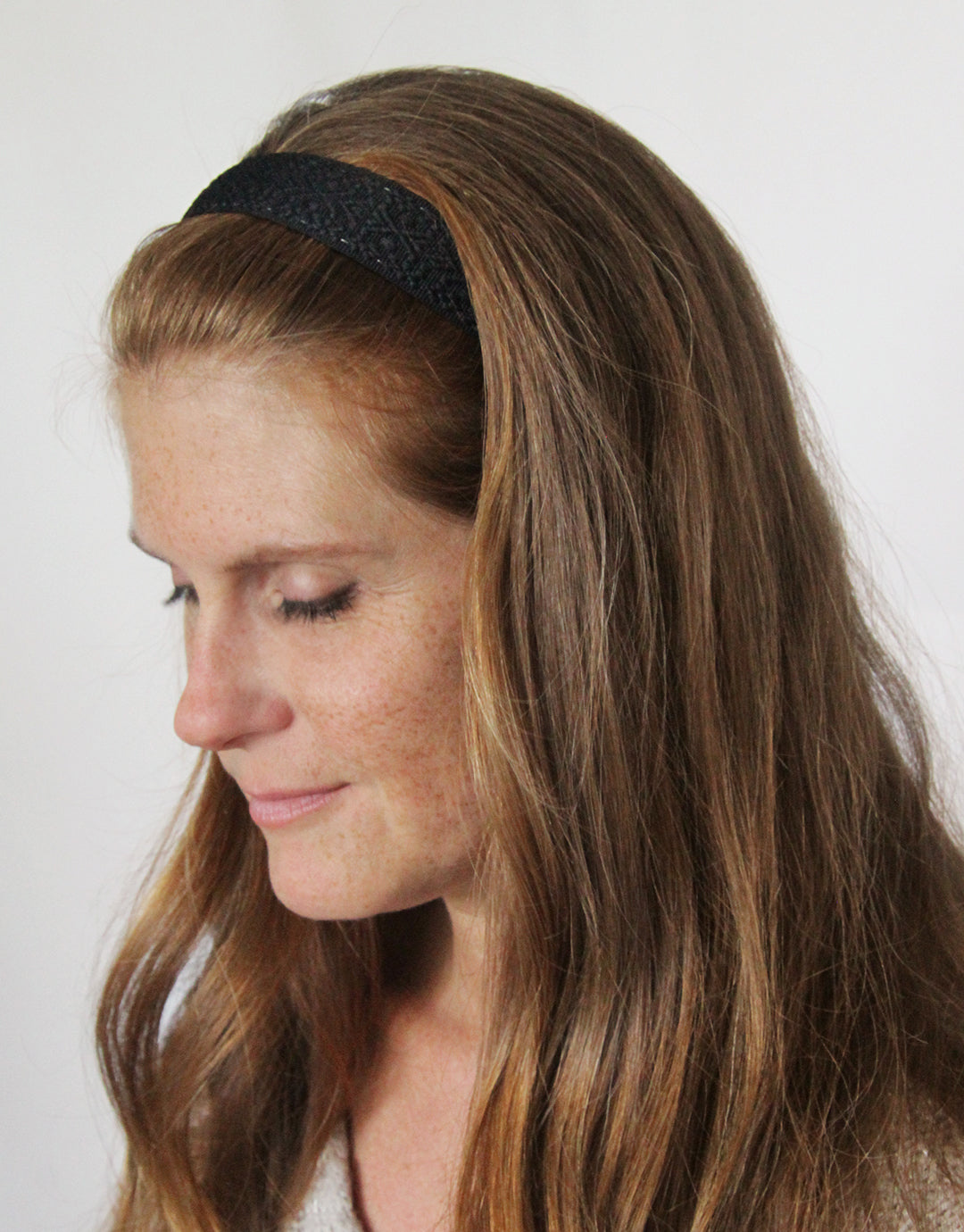 "Black Solid Geometric - Original 1"" Headband"