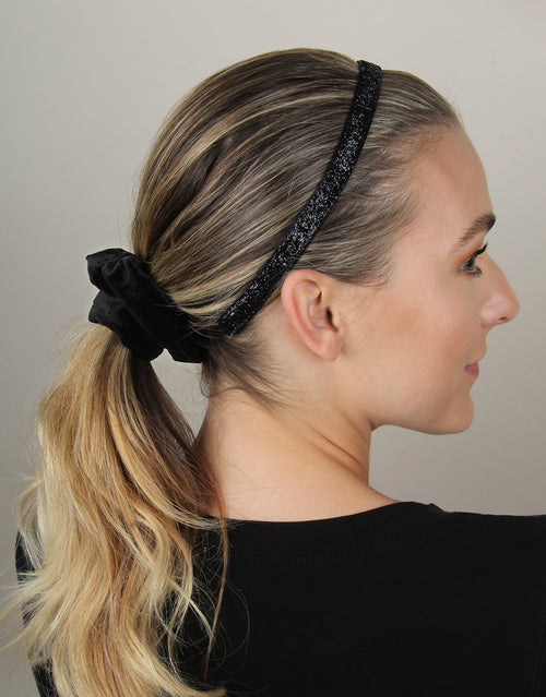 Black Sparkle - Skinny Headband