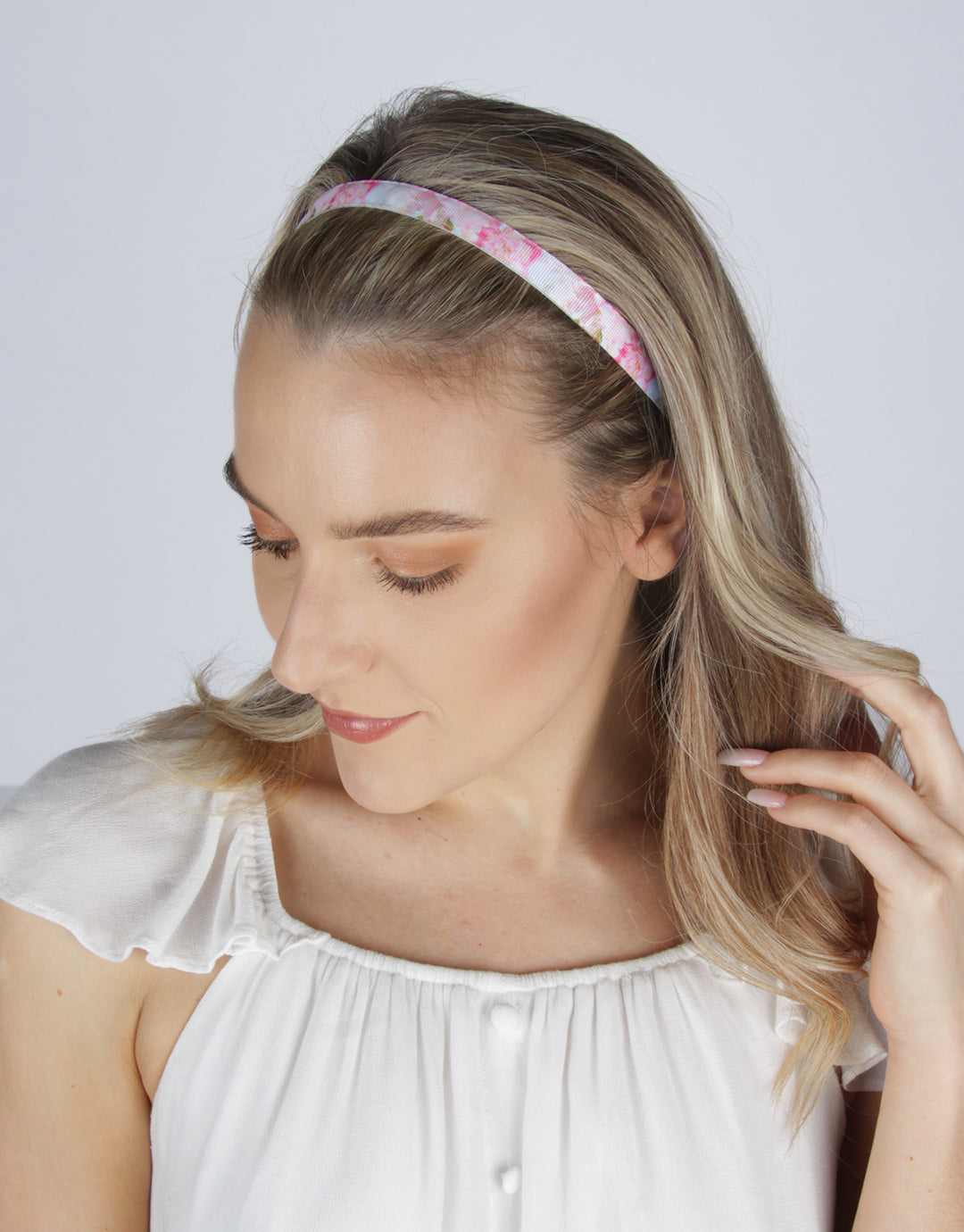 BANDED Women's Premium Headbands + Hair Accessories - Peony Splendor - Skinny Headband