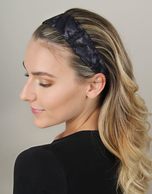 BANDED Women's Premium Headbands + Hair Accessories - Black Marble - Wide Headband