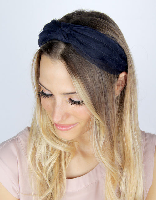 Twilight Polka Dot - Fabric Headband
