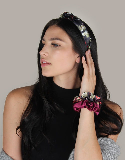 BANDED Women's Premium Headbands + Hair Accessories - Dark Floral - Fabric Headband