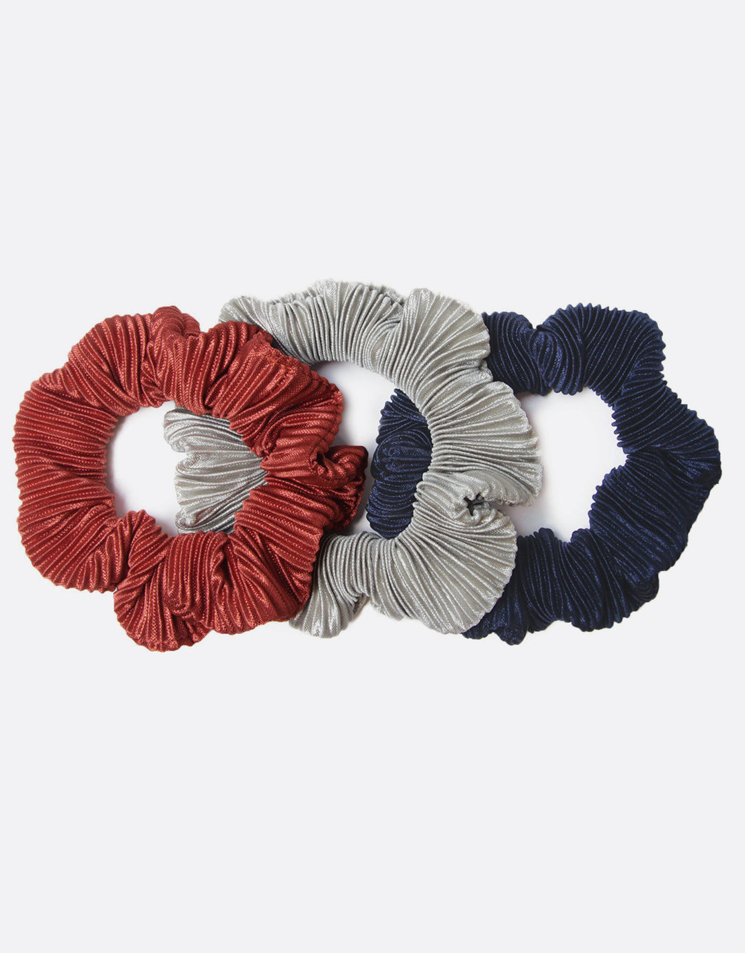 Serendipity - 3 Pack Pleated Satin Scrunchies