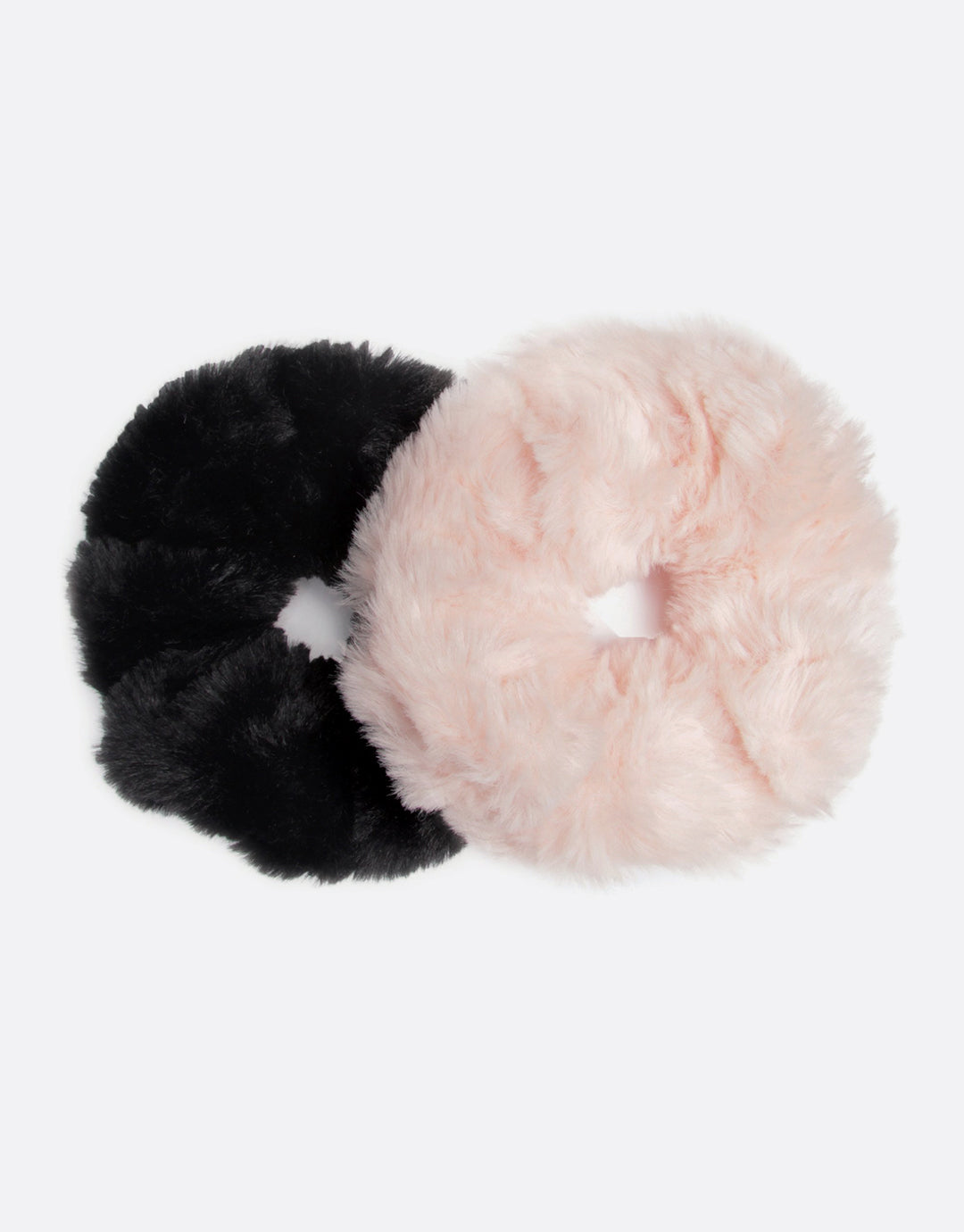BANDED Women's Premium Hair Accessories - Moonlight + Shadow - 2 Pack Extra Large Fur Scrunchies