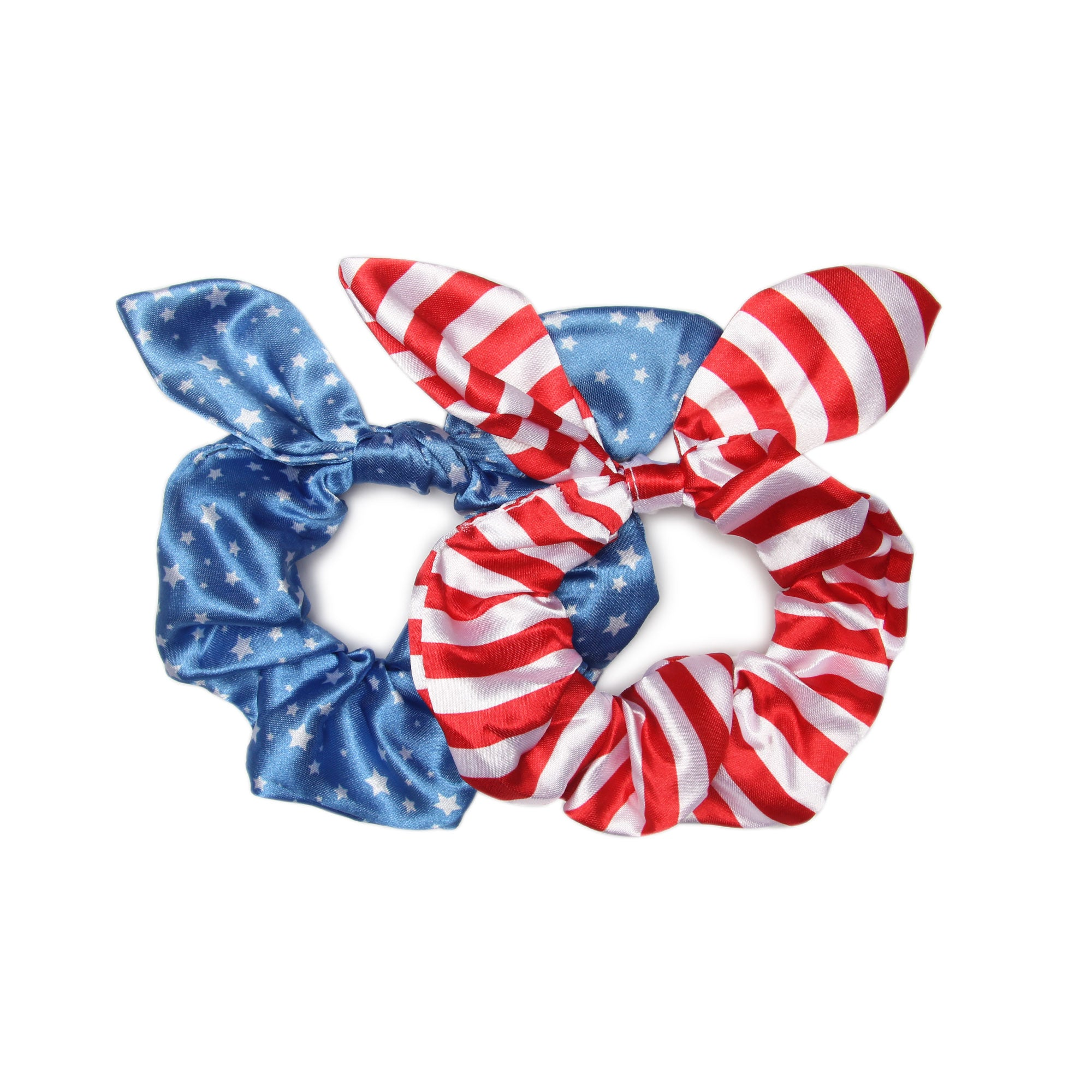 Stars + Stripes - 2 Pack Bow Scrunchies