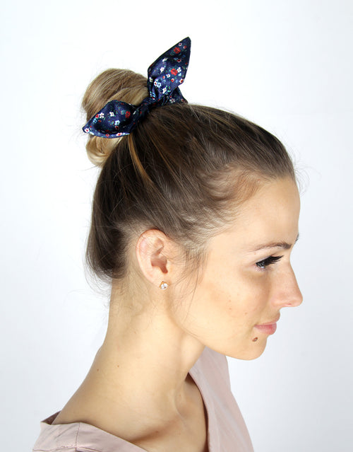 Rive Gauche Blue - 3 Pack Bow Scrunchies