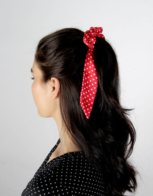 Polka Dot Rouge - 2 Pack Ponytail Scarves