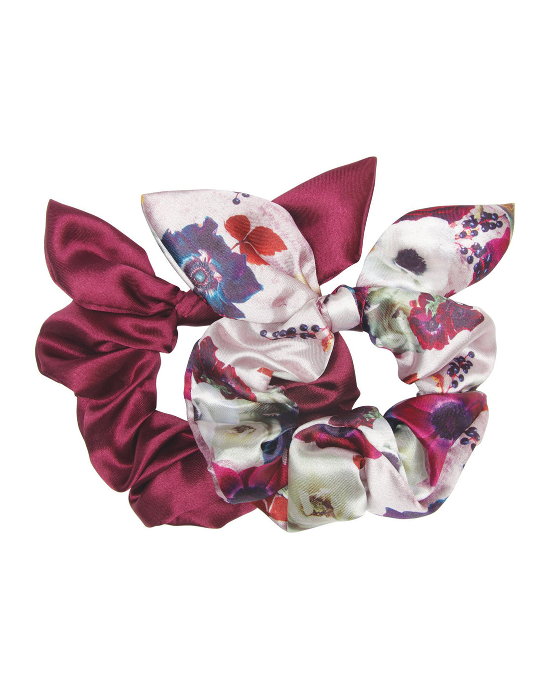 Hampton Garden - 2 Pack Bow Scrunchies