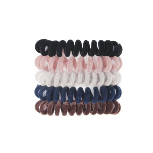 BANDED's Hair Ties + Accessories - Kennebunk Cords - 5 Pack Sueded Hair Cords