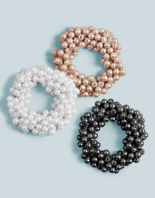 BANDED Hair Accessories - La Perla - 3 Pack Pearl Ties