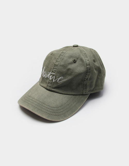 Olive Positive Ball Cap