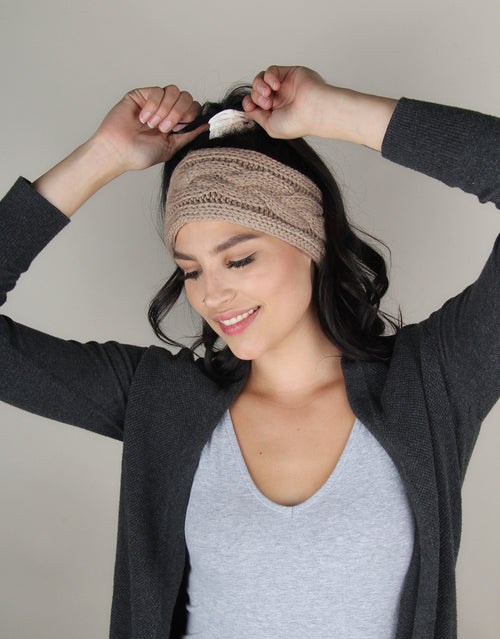 Taupe Iceland Braid - Winter Headband