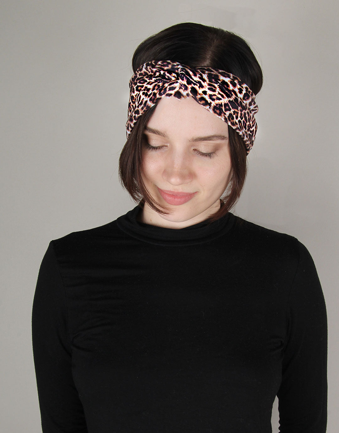 BANDED Women's Headwraps + Hair Accessories - Classic Leopard - Twist Headwrap