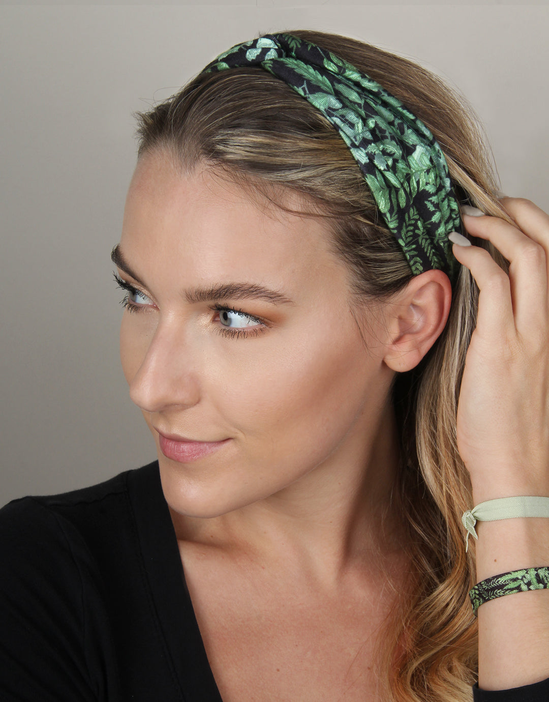 BANDED Women's Headwraps + Hair Accessories - Dark Fern - Twist Headwrap