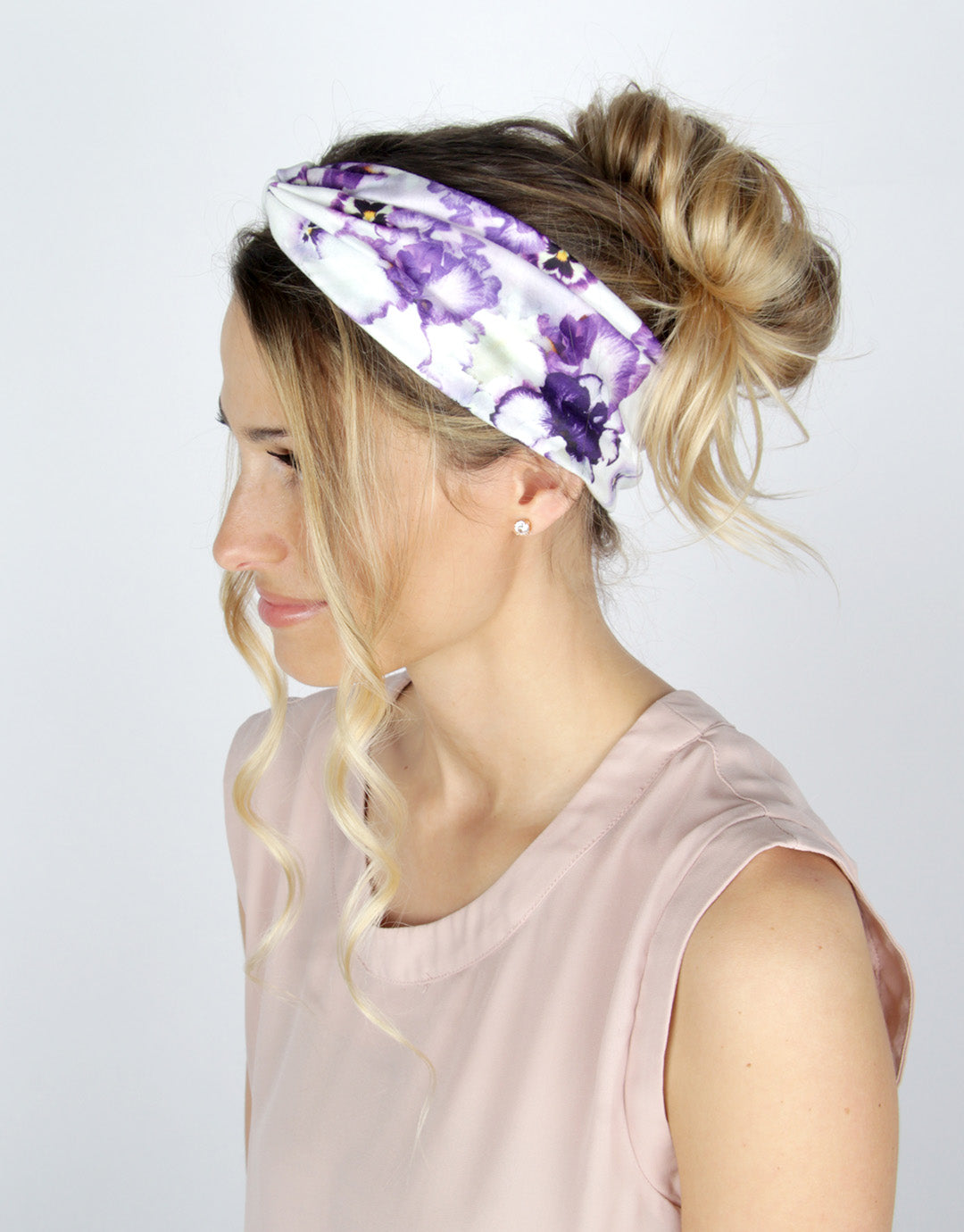 Giverny Pansy - Classic Twist Headwrap