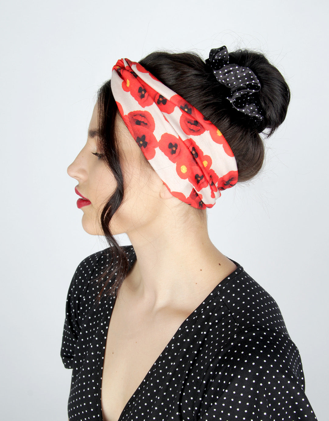 BANDED Women's Headwraps + Hair Accessories - Provincial Poppy - Classic Twist Headwrap