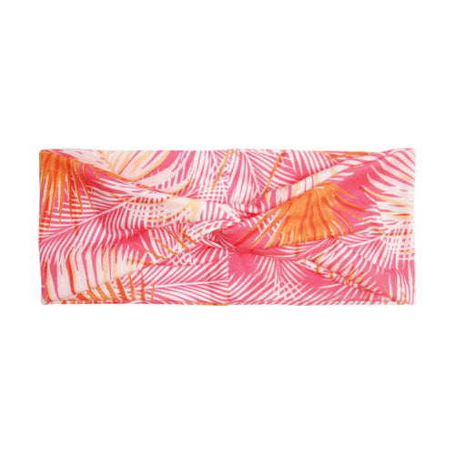 BANDED Women's Headwraps + Hair Accessories - Coral Palm - Classic Twist Headwrap