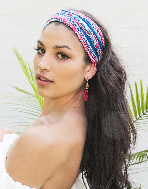 BANDED Women's Headwraps + Hair Accessories - Sicilian Tile - Infinity Headwrap