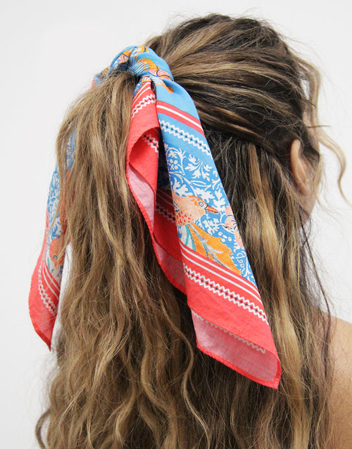 BANDED Women's Premium Hair Accessories - Barcelona Tile - Cotton Bandana