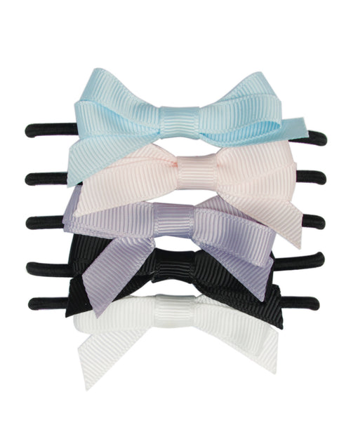 BANDED Hair Ties Accessories - Carousel Ponies - Girl Bowtie Ponytails