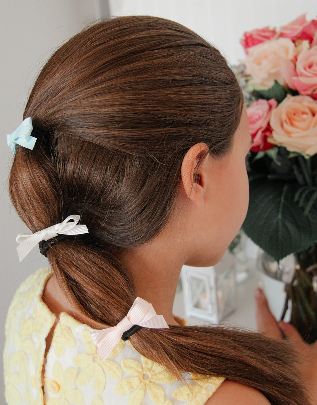 Carousel Ponies - Girl Bowtie Ponytails