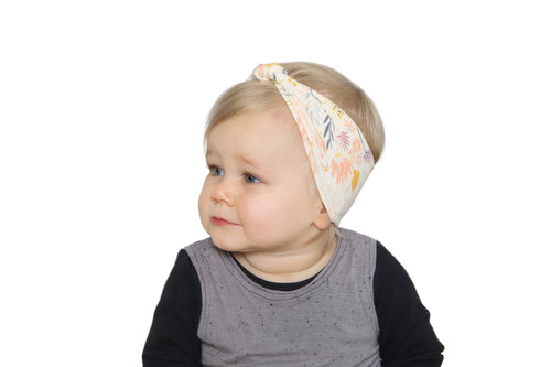 BANDED Baby Headbands + Accessories - Wildflower Medley - Baby Knot Turban