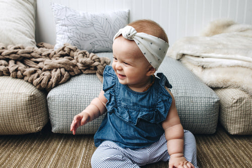 BANDED Baby Headbands + Accessories - x's & o's - Baby Knot Turban