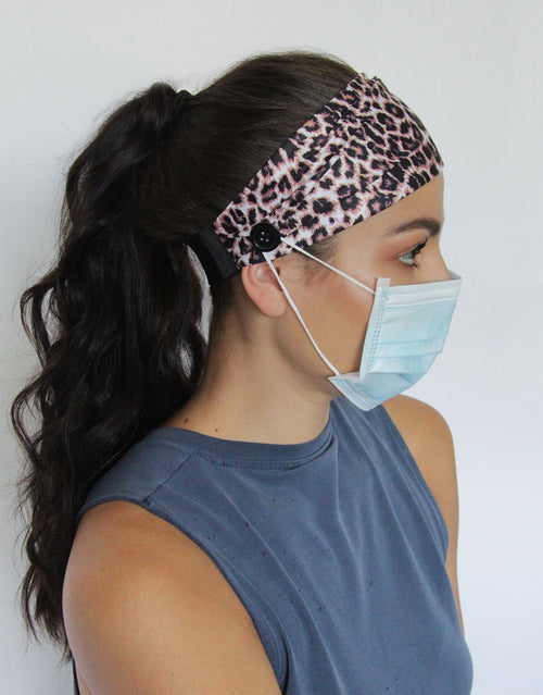 BANDED Women's Premium Headbands + Hair Accessories - Classic Leopard - Utility Button Headband