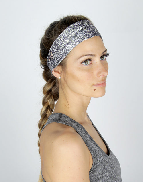 BANDED women's sports & athletic headbands - Cobblestone - Accelerate Athletic Headband