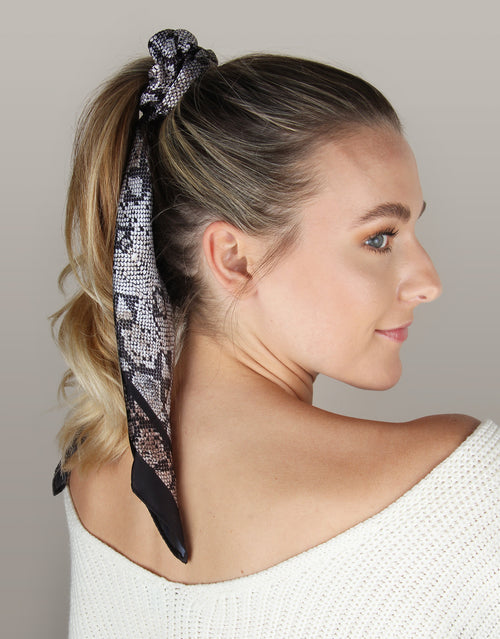 BANDED Women's Premium Hair Accessories - Snake Charmer - Scrunchie Bandana