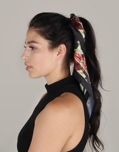 BANDED Women's Premium Hair Accessories - Dark Floral - Scrunchie Bandana