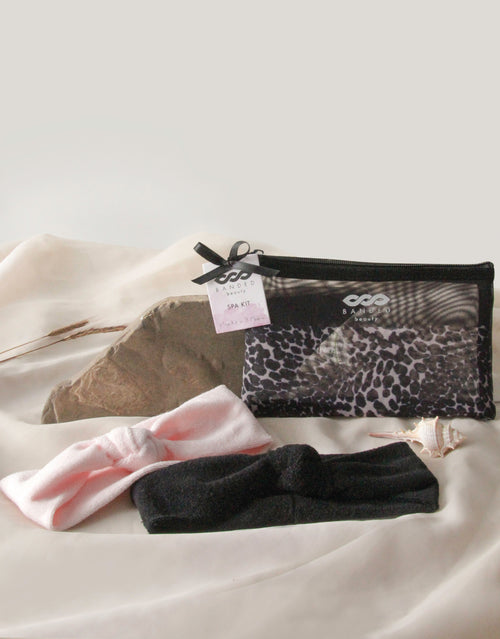 Leopard Noir - Headwrap Spa Set