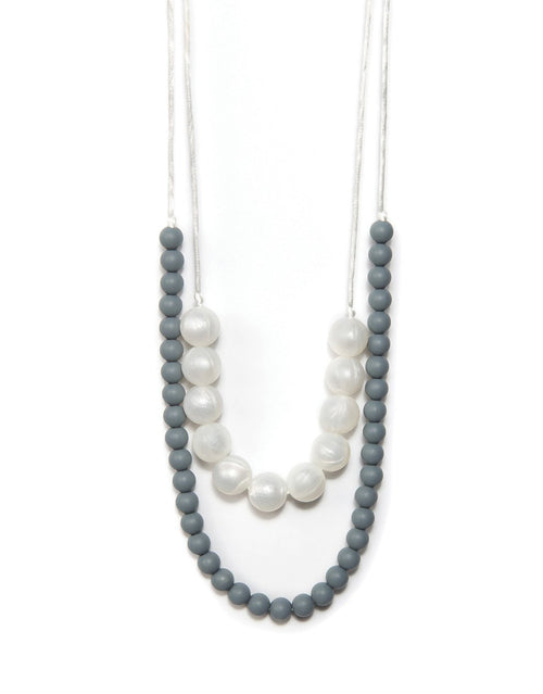 BANDED Baby Accessories + Apparel - Pearl Double Strand - Teething Necklace
